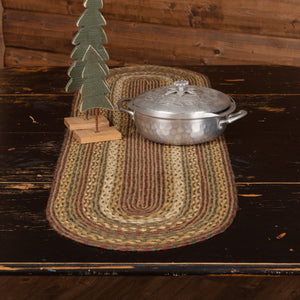 Tea Cabin Braided Runner 13x48""