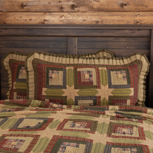 Tea Cabin Quilted King Sham 21x37""