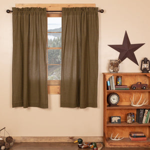 Tea Cabin Lined Short Panel Curtains 63""
