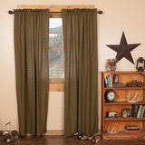 "Tea Cabin Lined Panel Curtains 84"" - Primitive Star Quilt Shop"
