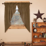 "Tea Cabin Lined Prairie Curtains 63"" - Primitive Star Quilt Shop"