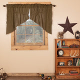 Tea Cabin Lined Prairie Swag Curtains - Primitive Star Quilt Shop