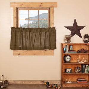 Tea Cabin Lined Tier Curtains 24""
