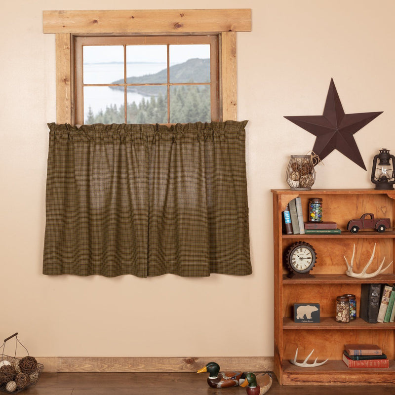 Tea Cabin Lined Tier Curtains 36\