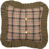 "Tea Cabin Quilted Pillow 16"" Filled - Primitive Star Quilt Shop"
