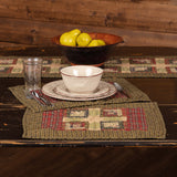 Tea Cabin Quilted Placemats - Set of 6 - Primitive Star Quilt Shop