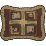 "Tea Cabin Quilted Standard Sham 21x27"" - Primitive Star Quilt Shop"
