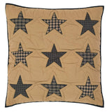 "Teton Star Quilted Euro Sham 26x26"" - Primitive Star Quilt Shop"
