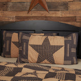 "Teton Star Quilted King Sham 21x37"" - Primitive Star Quilt Shop"