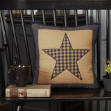"Teton Star Quilted Pillow 16"" Filled - Primitive Star Quilt Shop"