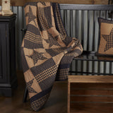 Teton Star Quilted Throw - Primitive Star Quilt Shop