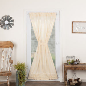 Natural Fringed Tobacco Cloth Door Panel Curtain 72""