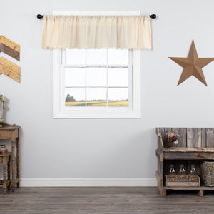 Natural Fringed Tobacco Cloth Valance 72""