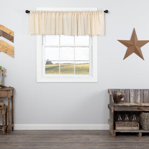 Natural Fringed Tobacco Cloth Valance 90""