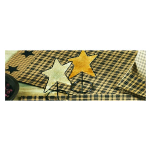 Vintage Star Black Table Runner 13x54""