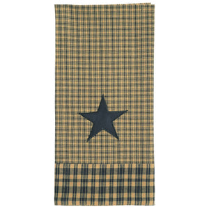 Vintage Star Black Tea Towel