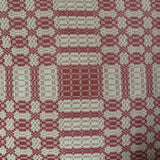 Westbury Cranberry and Tan Woven Throw - Primitive Star Quilt Shop