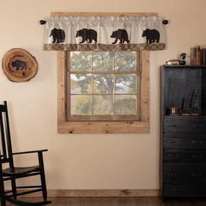 Wyatt Bear Lined Valance 72""