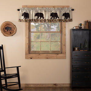 Wyatt Bear Lined Valance 90""