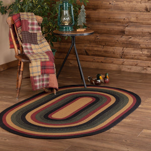 Wyatt Oval Braided Rug 4x6'
