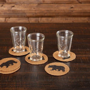 Wyatt Bear Braided Coaster - Set of 6