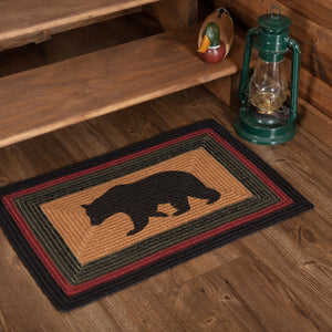 Wyatt Bear Rectangle Braided Rug 20x30""