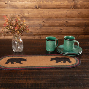Wyatt Bear Braided Runner 8x24""