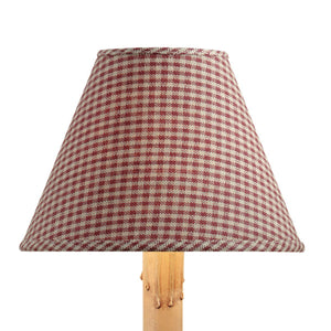 York Wine Mini Check Fabric Lamp Shade - 10""