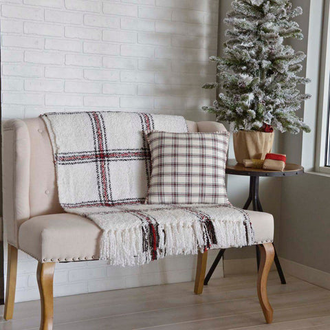 "Amory Plaid Pillow 16"" Filled"