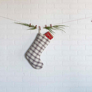Amory Plaid Stocking 11x15""