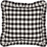 "Annie Buffalo Check Black Fabric Pillow 18"" Filled - Primitive Star Quilt Shop"