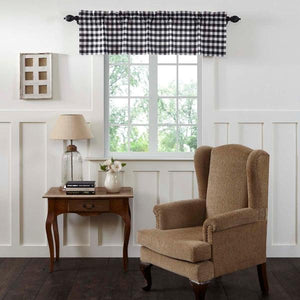 Annie Buffalo Check Black Lined Valance 60""