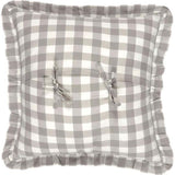 "Annie Buffalo Check Grey Fabric Pillow 18"" Filled - Primitive Star Quilt Shop"