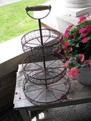 Three Tiered Wire Stand