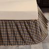 Black Check Bed Skirt - Primitive Star Quilt Shop