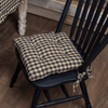 "Black Check Chair Pad 15"" - Primitive Star Quilt Shop"