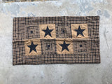 "Vintage Star Black Quilted Standard Sham 20x26"" - Primitive Star Quilt Shop"