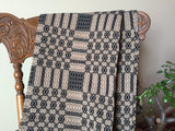 Westbury Black and Tan Woven Throw - Primitive Star Quilt Shop