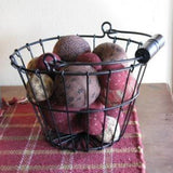 Black Wire Basket - Primitive Star Quilt Shop