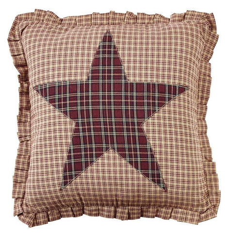 "Bradford Star Fabric Star Pillow 16"" Filled - Primitive Star Quilt Shop"