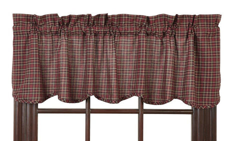 Bradford Star Scalloped Lined Valance - Primitive Star Quilt Shop