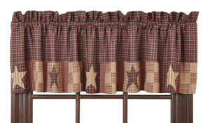 Bradford Star Block Border Lined Valance 72""