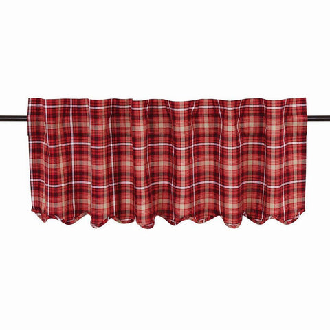 "Braxton Scalloped Lined Valance 60"" - Primitive Star Quilt Shop"