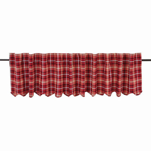 "Braxton Scalloped Lined Valance 90"" - Primitive Star Quilt Shop"