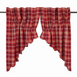 Braxton Scalloped Lined Prairie Swag Curtains - Primitive Star Quilt Shop