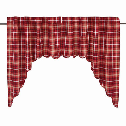 Braxton Scalloped Lined Swag Curtains - Primitive Star Quilt Shop