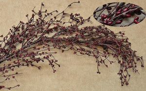 Burgundy Pip Berry Garland 4'