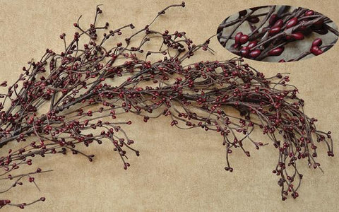 Burgundy Pip Berry Garland -  4ft