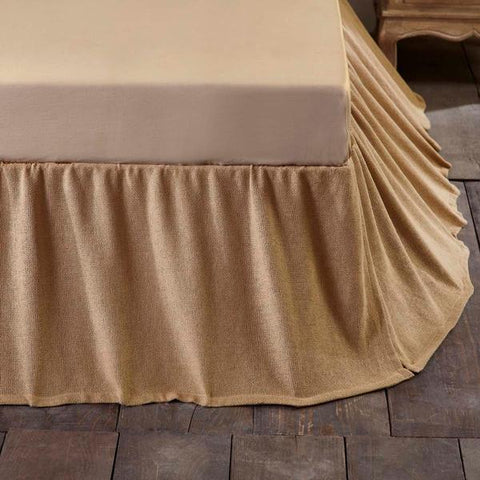 Burlap Natural Ruffled Bed Skirt in 3 SIZES