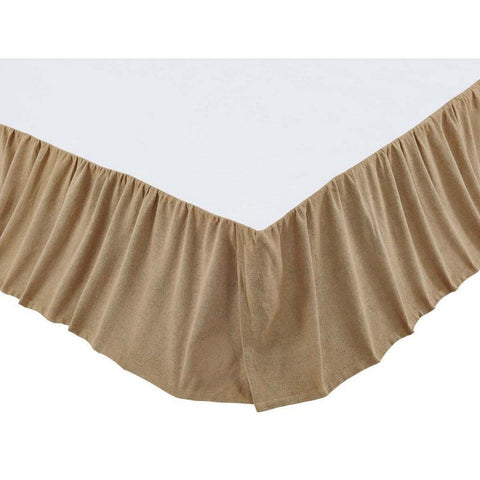 Burlap Natural Ruffled Bed Skirt in 3 SIZES - Primitive Star Quilt Shop - 1